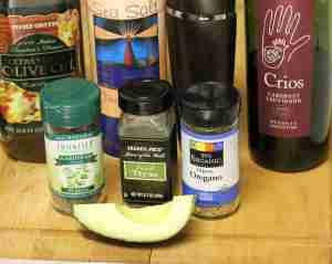 Red Wine Dressing - Ingredients