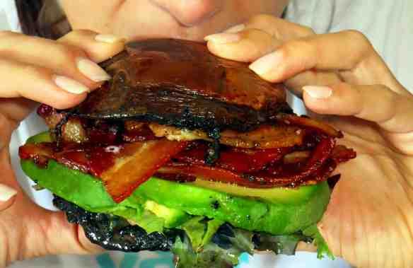 PortobelloBaconBreakfastSandwich-WifeEating